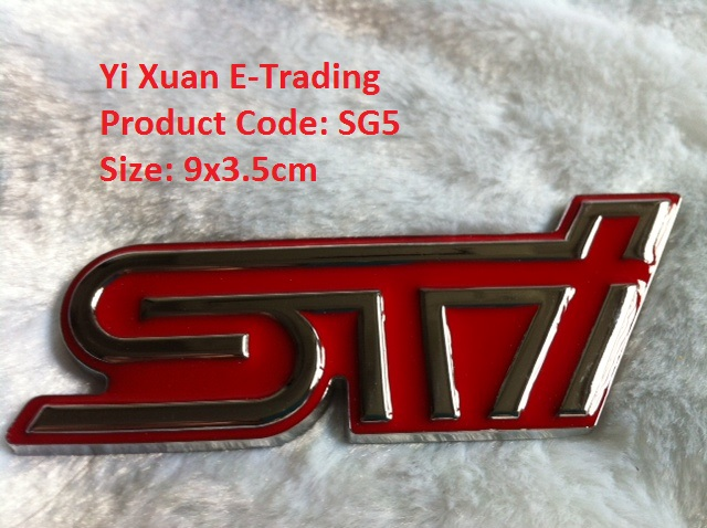 STi Grille Emblem Red (Metal)
